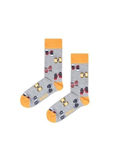 Bad Bear 20.02.02.006C19 Mıtten Uzun Graymelange Erkek Çorap Gri